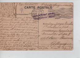 PR7449/ CP Crypte Royale écrite De St.Gilles PDG-POW-KFS Interné C.BXL 1915 > Soltau Censure Geprüft - WW I
