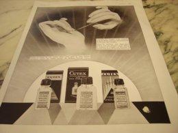 ANCIENNE PUBLICITE VERNIS A ONGLES CUTEX 1932 - Sin Clasificación