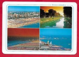 CARTOLINA VG ITALIA - RIVIERA ADRIATICA - Tempo Di Vacanza - Vedutine Multivue - 12 X 17 - 1995 - Italie