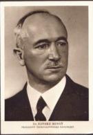 Czechoslovakia Postcard With President Benes - Hommes Politiques & Militaires