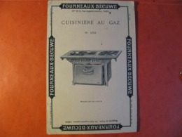 BUVARD - FOURNEAUX BECUWE - CUISINIERE AU GAZ - PARIS  - Format : 20 X 13 Cm - Elektrizität & Gas