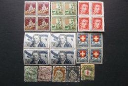 Helvetia: Various Stamps In MNH, OG. & Used (#GU9) - Switzerland