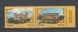 MALTA  2019  Architecture-Palaces -  Joint Issue Romania - Malta Set 2 Val.   MNH** - Emissioni Congiunte
