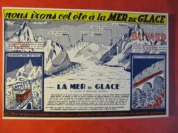 BUVARD - MER DE GLACE - Format : 21 X 14 Cm - Transport