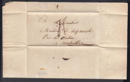 France 1814 - Précurseur De Doullens (Dept. La Somme 76)  à Versailles. (VG) DC-4274 - Marcofilia (sobres)