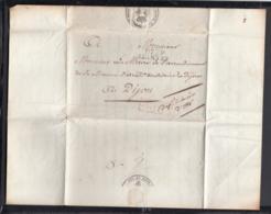 France 1821 - Précurseur De Fontenay-St-Père à Dijon  (VG) DC-4275 - Marcofilia (sobres)