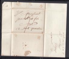France 1821 - Précurseur De Guingamp à St-Quentin  (VG) DC-4277 - Marcofilia (sobres)