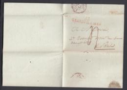 France 1823 - Précurseur De Grandvilliers à Paris  (VG) DC-4278 - Marcofilia (sobres)