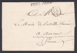 France 1826 - Précurseur De Paris à Amiens  (VG) DC-4280 - Marcofilia (sobres)