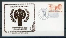 Etats Unis 1979 IYC AIE FDC CHARLES F ADAMS En Noir - Childhood & Youth
