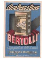 CARTOLINA POSTALE  OLIO DI OLIVA  BERTOLLI Lucca - Pubblicitari
