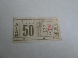ATAN ( Napoli) Biglietto Da Lire 50 - Tram