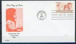 Etats Unis 1979 IYC AIE FDC Lorstan - Childhood & Youth