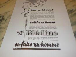 ANCIENNE PUBLICITE FAIRE UN BEL ENFANT BLEDINE  1934 - Posters