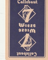 1 SPEELKAART CALLEBAUT WIEZE - Cartes à Jouer