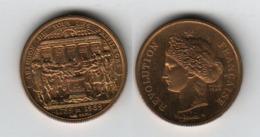 France Bicentenaire De La Révolution 1789; Abolition Des Privilèges, Projet 1984; Token; Médaille - Francia