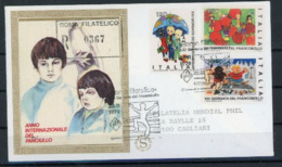Italie 1979 IYC AIE FDC FILAGRANO SOIE Roma Filatelico - Childhood & Youth