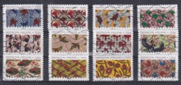 FRANCE AUTOADHESIFS OBLITERES-SERIE COMPLETE DE 12 TIMBRES-N° YVERT 1657 A 1668-ANNEE 2019- INSPIRATION AFRICAINE -TISSU - Luchtpost