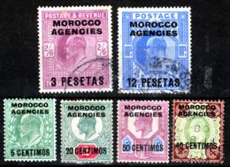 MOROCCO AGENCIES SPANISH CURRENCY  EVII  3 & 12 PESETAS  FINE USED - Oficinas En  Marruecos / Tanger : (...-1958