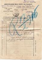 MODULISTICA AMM POSTE E TELEGRAFI SASSARI 1916 - Vecchi Documenti
