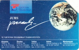 LITHUANIA(Urmet) - Earth, Lietuvos Telecomas Connects The World, Used - Espacio