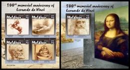 MALDIVES 2019 - Leonardo Da Vinci. M/S + S/S Official Issue [MLD190708] - Arte