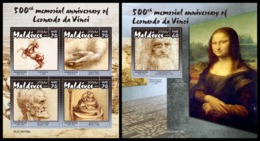 MALDIVES 2019 - Leonardo Da Vinci. M/S + S/S Official Issue [MLD190708] - Art