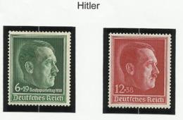Allemagne N° 607 Et 613 Neufs Avec Charnière De 1938 - Hitler - Duitsland