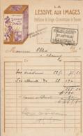 FACTURE 1926 ÉPICERIE DOLOY DARET 3 Rue Du CATEAU St QUENTIN - LA LESSIVE Aux IMAGES PARFUME Le LINGE ÉCONOMISE Le SAVON - Profumeria & Drogheria