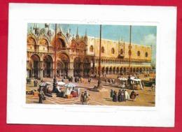 BIGLIETTO AUGURI ITALIA - CANALETTO - Piazza S. Marco - Timbro Interno TRIBUNAL REGIONALE VENETUM - 10 X 15 - Vecchi Documenti