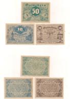3 Notgeldscheine Retz 10, 20 + 50 H - Austria