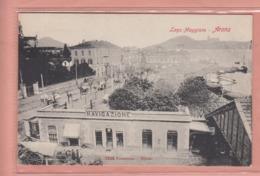 OLD POSTCARD -  ITALY -     ARONA - -NAVIGAZIONE-  1900'S - Novara