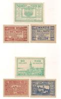 3 Notgeldscheine Ried Bei Mauth. 10, 20 + 50 H - Austria