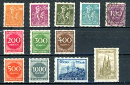 Allemagne   Y&T   239 - 250   XX   ---      Mi    --  MNH  --  Tous XX Sauf 243  --  TTB... - Neufs