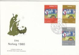 FDC IRELAND 430-432,Christmas 1980 - FDC