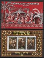 1993 1994 1995  Burundi N° BF      Nf** MNH .  Les 3 Bloc-Feuillet .  NOEL 1993 1994 1995 - Weihnachten
