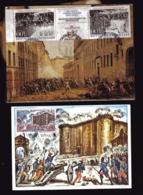 FRANCE  REVOLUTION  BIcentenaire  N°2537 Et 38 Et Prise De La Bastille  N°1680 - French Revolution