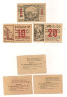 3 Notgeldscheine Rossatz In Der Wachau 10, 20 + 50 H - Austria