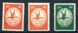 Allemagne   Y&T     X   ---   1912  Flugpost Am Rhein Und Main     Mi   Flugpost I II III - Nuevos