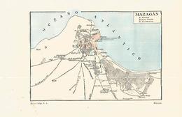 LAMINA ESPASA 32323: Mapa De Mazagan - Autres Collections
