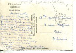 N°77498 GF -cachet Hexagonal Pointillé De Sollières Sardières - Marcofilia (sobres)