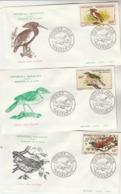 Madagascar FDC 1963 X 3  Yvert Série PA 89 à 91 - Oiseaux - Madagascar (1960-...)