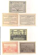 3 Notgeldscheine Raab 50, 50 + 50 H - Austria