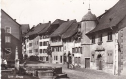 SUISSE .BRUGG. LA FONTAINE ET LA TOUR. ANNÉE 1959 + TEXTE - AG Aargau