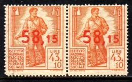 11971 Italia INFPS Instituto Nazionale Fascista Della Previdenza Sociale Par Horizontal NNN - Italien