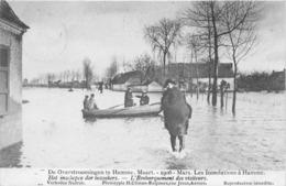 BELGIQUE - Inondations à HAMME - Mars 1906 - L'embarquement Des Visiteurs - Hamme