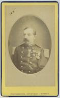 CDV Militaire. Le Capitaine Henri Roussel De Courcy. Médailles. Crimée. Autographe. Militaria. Officier. Tonkin. Mexique - Old (before 1900)