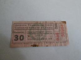 TRANVIE Governatore  Di ROMA Biglietto Da Centesimi 30 - Europa