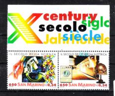 San Marino - 2000. Secolo Della Biochimica E Elettricità.  Century Of Biochemistry And Electricity. MNH - Scheikunde