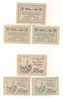 3 Notgeldscheine Regau 10, 20 + 50 H - Austria